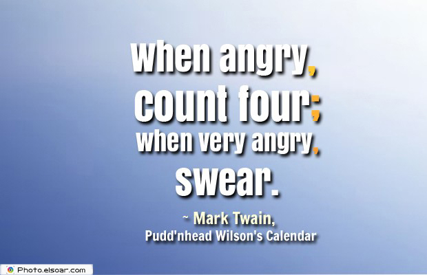 Quotes About Anger , When angry, count four