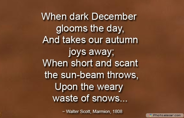 December Quotes, Sayings About December, Quotes Images, Glooms, Walter Scott