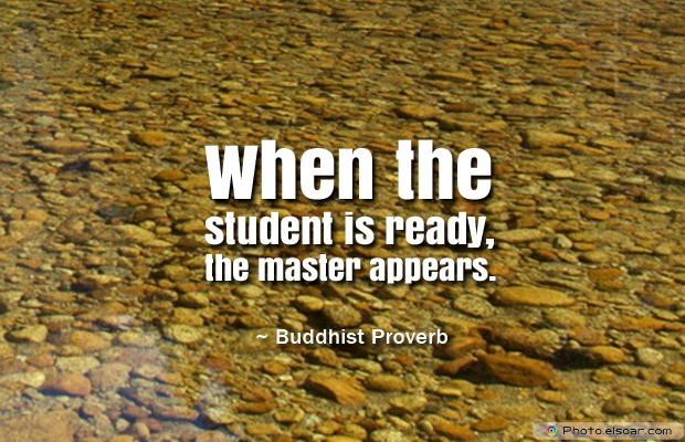 Back to School Quotes , When the student is ready