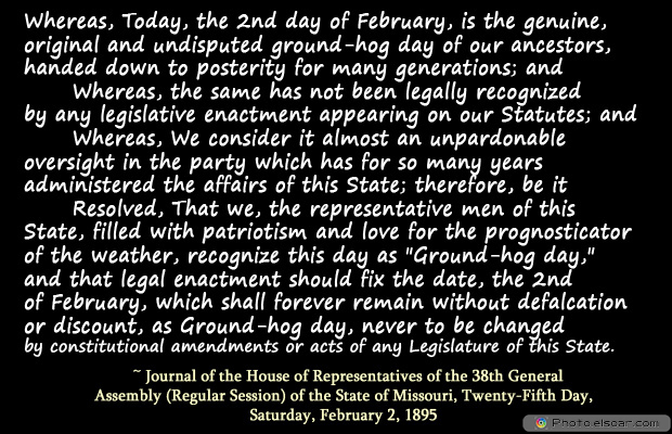 Short Strong Quotes , Whereas, Today, the 2nd day of February