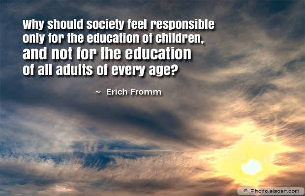 Back to School Quotes , Why should society feel responsible