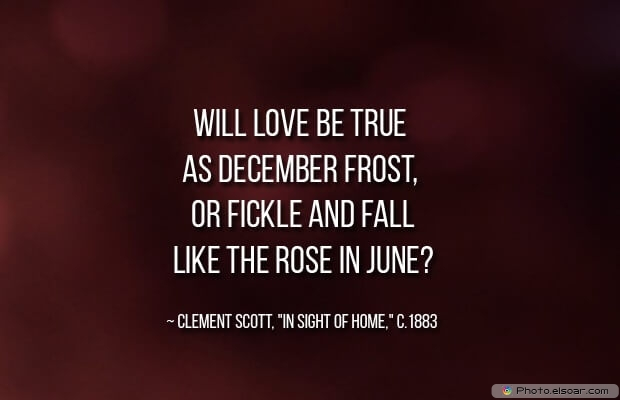 December Quotes, Sayings About December, Quotes Images, Clement Scott, Frost