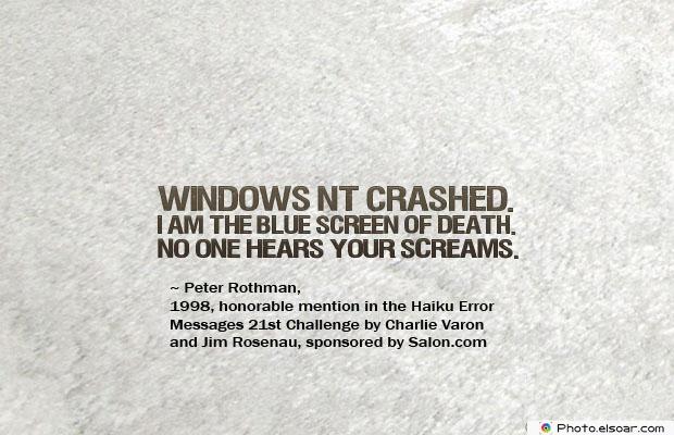 Windows NT crashed