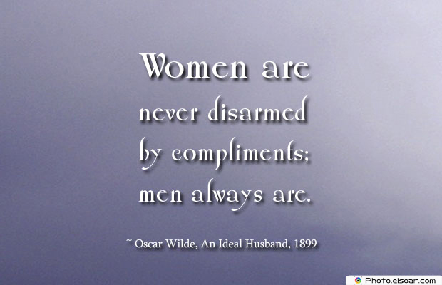Women are never disarmed
