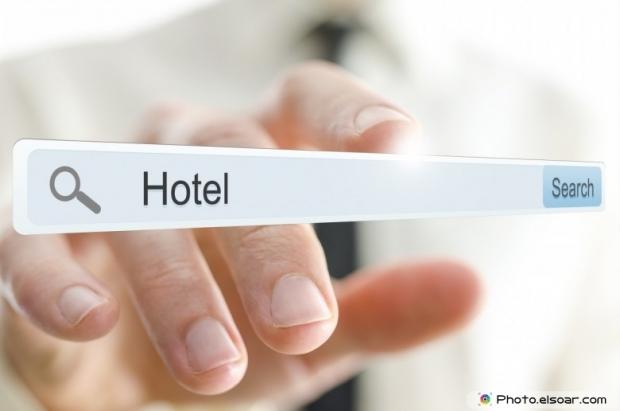 Word Hotel Written In Web