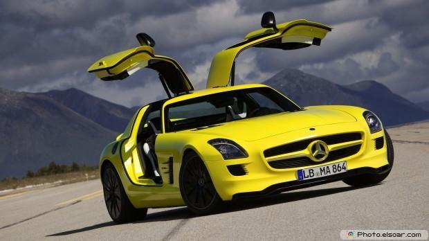 Yellow Car Full HD Wallpaper