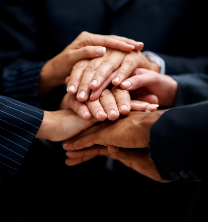 two businessmen shaking hands photo C